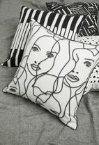 Sixth Floor - Anything goes cushion cover - black & white