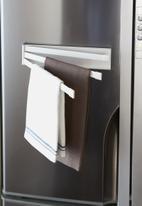 Yamazaki - Tower magnetic dish towel hanger - white