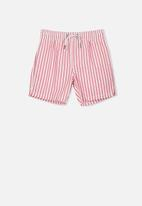 Cotton On - Murphy swim short - coral & white