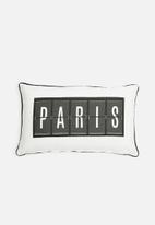 Sixth Floor - Paris cushion cover - black & white