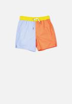 Cotton On - Murphy swim short - blue & orange