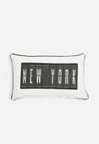 Sixth Floor - New York cushion cover - black & white