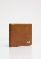 STYLE REPUBLIC - Faux leather wallet - tan