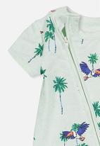 Cotton On - Mini zip through rom tropical - blue
