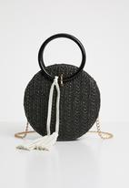 Superbalist - Round basket bag - black