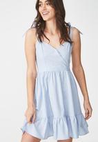 Cotton On - Woven kaya strappy sun dress - blue