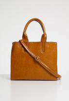 Superbalist - Aria faux leather shopper bag -  tan