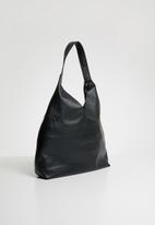 Superbalist - Zip pocket leather bag - black