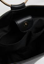 Superbalist - Serena ring detail faux leather bag - black