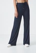 Cotton On - Alice wide leg drapey pants - navy