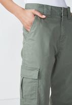 Cotton On - Carla high waist utility pants - khaki