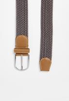 Superbalist - Braided woven belt - brown