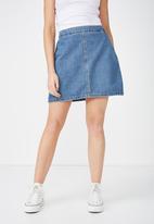 Cotton On - Denim aline skirt - blue