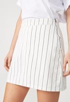 Cotton On - Denim aline skirt - navy and white