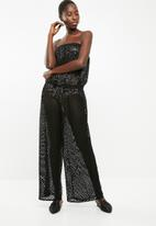 Sissy Boy - Crochet lace jumpsuit - black