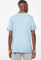 RVCA - Big rvca tiedye short sleeve tee - dusty blue