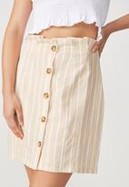 Cotton On - Woven halle mini skirt - white