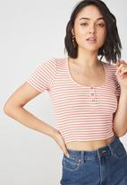 Cotton On - Skyla henley short sleeve top - multi