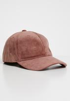 Superbalist - Suede peak cap - pink