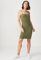 Cotton On - Freya bodycon dress -  khaki