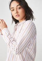 Cotton On - Casual Rebessa shirt - gold & white