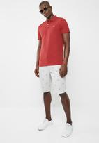 STYLE REPUBLIC - Crown piquet golfer - red