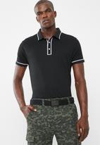 STYLE REPUBLIC - Block pique golfer - black