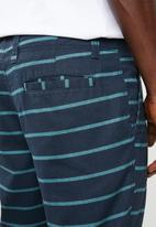 STYLE REPUBLIC - Alfred striped shorts - navy & green