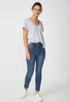 Cotton On - High rise grazer skinny jeans - blue