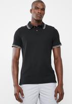 STYLE REPUBLIC - Tipped golfer - black
