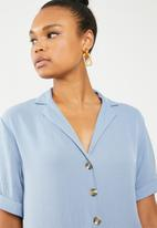New Look - Peggy short sleeve blouse - blue