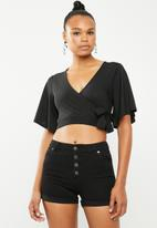 New Look - Tie cape top - black
