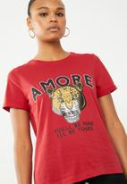Vero Moda - Wild merci t-shirt - red