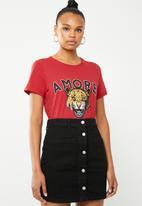 Vero Moda - Wild merci t-shirt - red