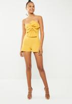 New Look - Bow front playsuit - yellow