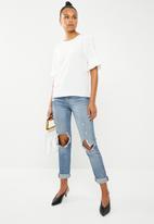 Vero Moda - Elisa pearl blouse - white