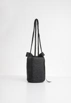 Superbalist - Emma straw bucket bag - black