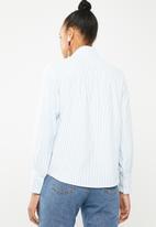 Vero Moda - Lizza long sleeve striped shirt - white