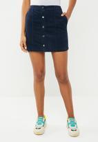 Vero Moda - Moon corduroy skirt - navy