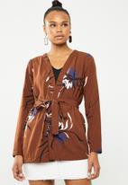 Vero Moda - Texas long sleeve kimono - brown