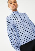 Vero Moda - Nova long sleeve top - blue