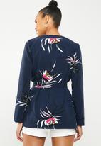 Vero Moda - Texas long sleeve kimono - navy