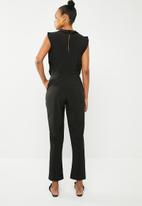 Vero Moda - Sorona short sleeve jumpsuit - black