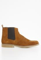 STYLE REPUBLIC - Suede gusset boots - brown