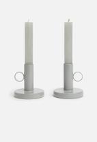 Sixth Floor - Hiro candle holder set of 4 - grey