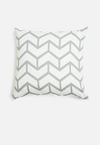 Sixth Floor - Chev cushion cover - grey