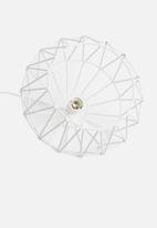 Sixth Floor - Structured pendant light - white