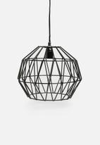 Sixth Floor - Structured pendant light - black