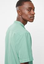 Superbalist - Oxford mandarin shirt - green
