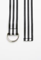 Superbalist - Alisha canvas belt - black and white